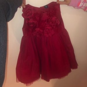Red toddler Gap kids dress like new size 3T